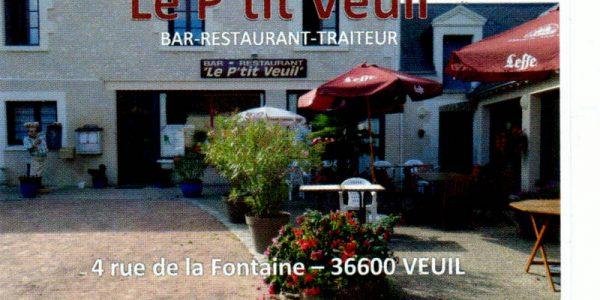 Restaurant le P'tit Veuil à Veuil